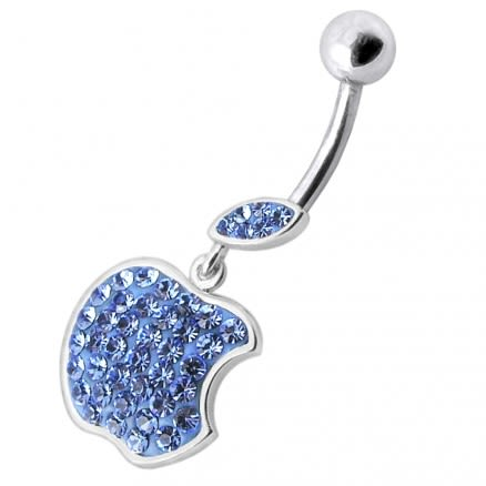 Multi Jeweled Apple Dangling Belly Ring