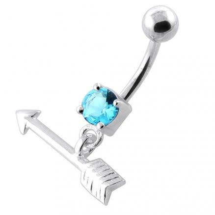 Trendy Arrow belly piercing ring