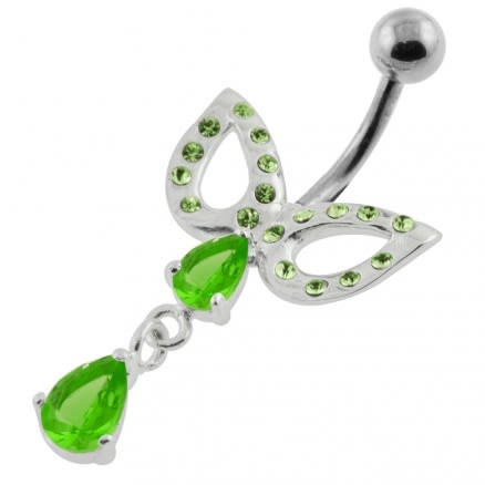 Jeweled Domino Mask belly button piercing