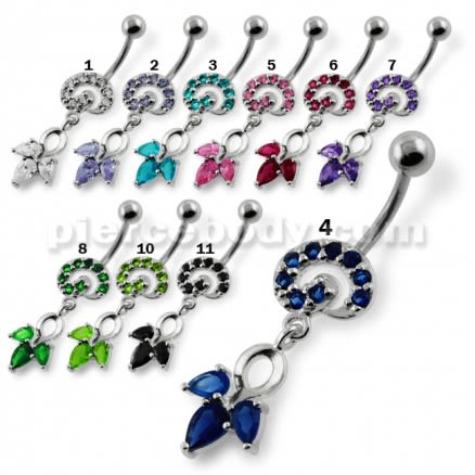 Fany Multi Jeweled Navel Belly Button Piercing