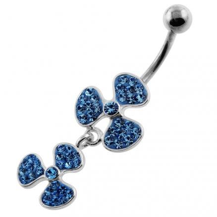 Multi Jeweled Bio-Hazard Navel Belly Piercing