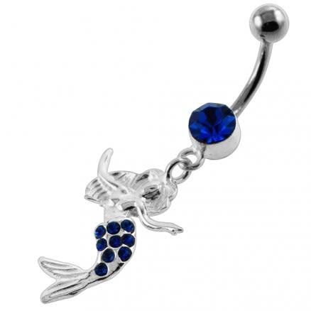Dancing Mermaid Navel Belly Button Piercing