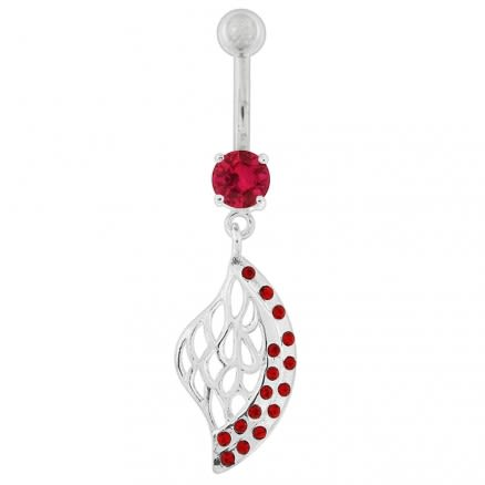 Multi Jeweled Net Dangling Belly Button Ring