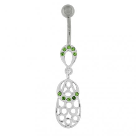 Dangling Holes Navel Belly button Ring