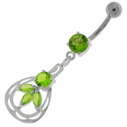 Jeweled Dangling Fashion Navel Belly button Ring