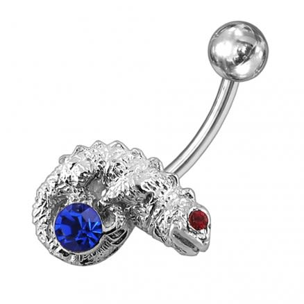 Fancy Lizard Jewelled Non-Moving Belly Ring