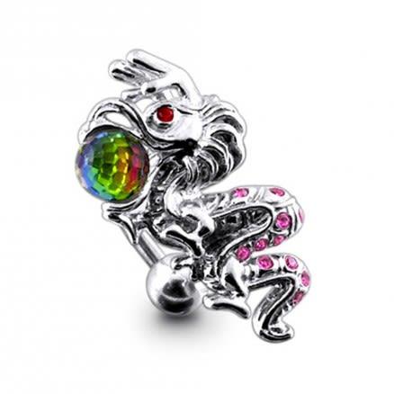 Jeweled Dragon Navel Body Jewelry