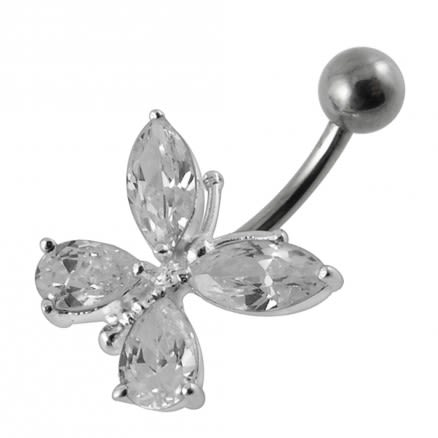 Fancy Jeweled Butterfly Navel Ring