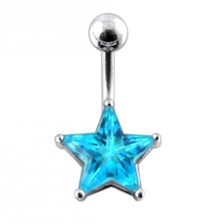 Jeweled Star Navel Body Jewelry