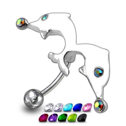 Jumping Dolphin Belly Ring