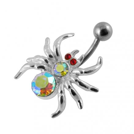 Jeweled Spider Navel Belly Ring