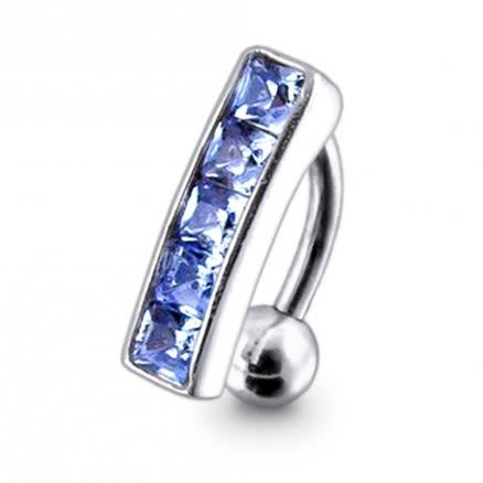 Fancy Multi Gems Studded Belly Ring