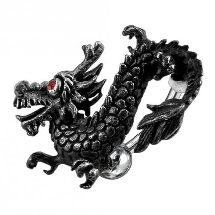 Jeweled Dragon Navel Belly Ring