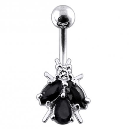 Jeweled Fly Navel Ring