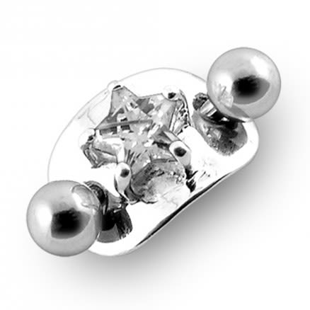 14 Gauge Fancy Jewelled Non-Moving Belly Ring