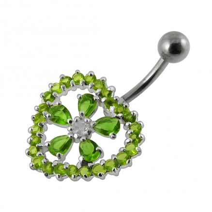 925 Sterling Silver Belly Button Body Jewelry PBN590