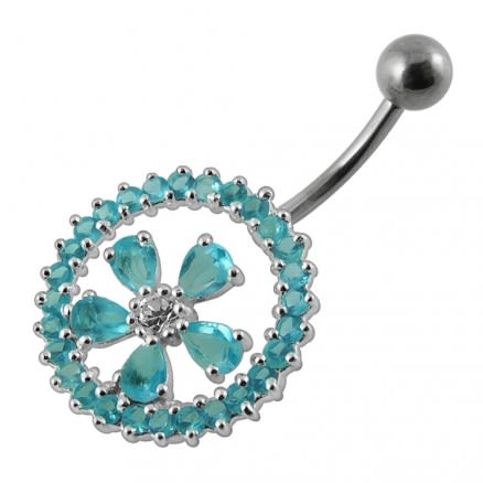 925 Sterling silver Belly Button Body Jewelry Ring PBN591