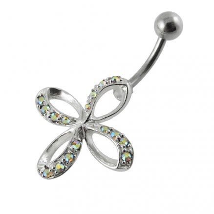 Jeweled Celtic Non-Moving  Belly Ring
