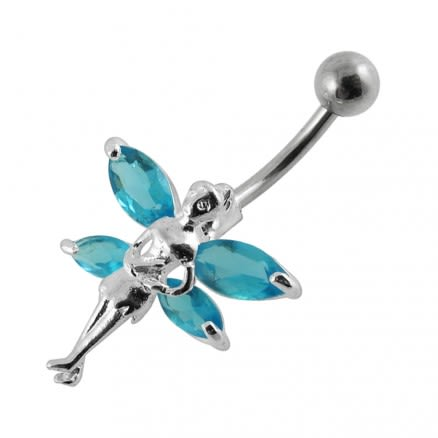 Double Winged Angel Non-Moving Belly Ring