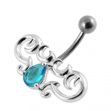 Jeweled Tribal Non-Moving  Belly Ring