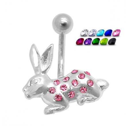 Jumping Rabbit Non-Moving Belly Ring
