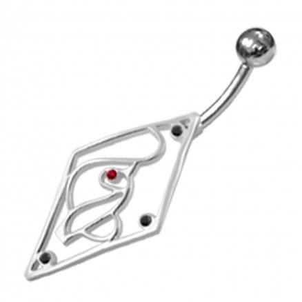 Jeweled Baby Phat Non-Moving Belly Ring