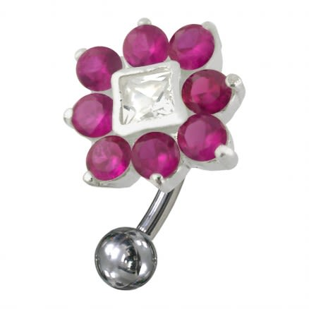 Jeweled Non-Moving Reverse Belly Ring