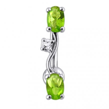 Fancy Jeweled Non-Moving Reverse Belly Ring Body Jewelry