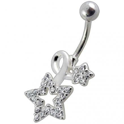 Fancy Jeweled Star Non-Moving Belly Ring