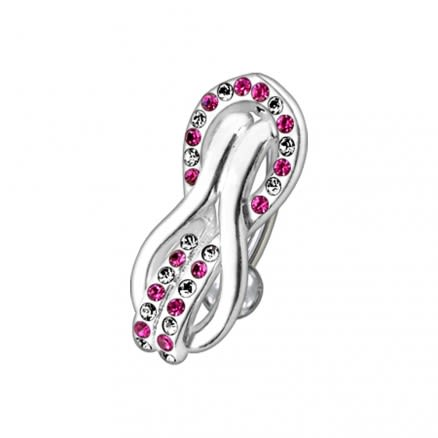 Fancy Multi Jeweled Reverse Non-Moving Curved Bar Belly Ring