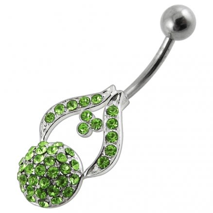 Fancy Multi Stone Jeweled Non-Moving Belly Navel Body Jewelry Ring
