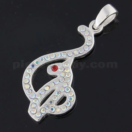 925 Sterling Silver Hand of Fatima with Dark Blue Opal Pendant