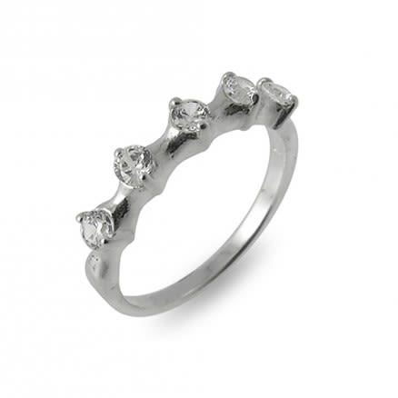 Jeweled Fashion Silver Finger Ring
