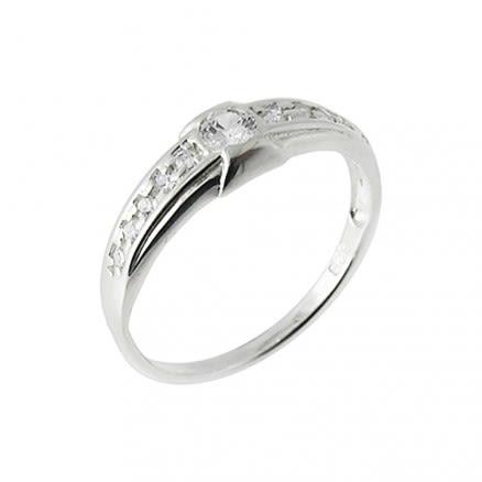 Jeweled Stylish Fashion Silver Finger Band Ring