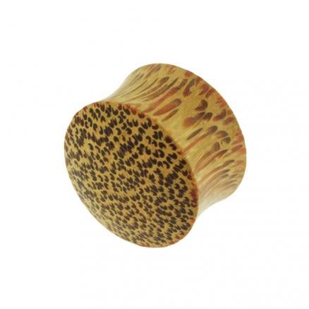 Organic Palm Wood Convex Saddle Ear Plug