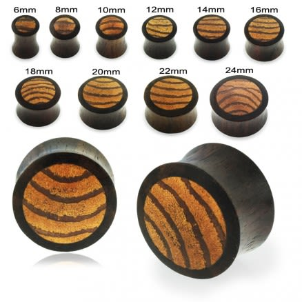 Organic Mangrove Wood Covered By Sono Wood Ear Plug Gauges