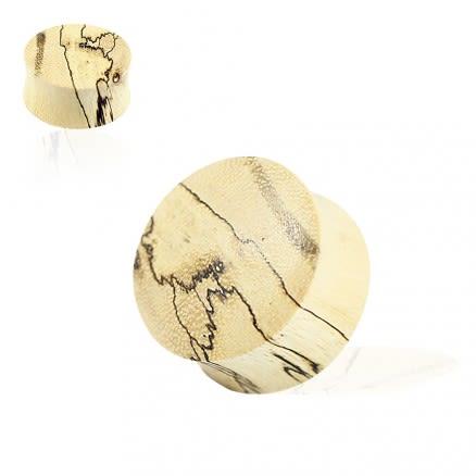 Double Flared Organic Tamarind Wood Convex Saddle Ear Gauges Plug