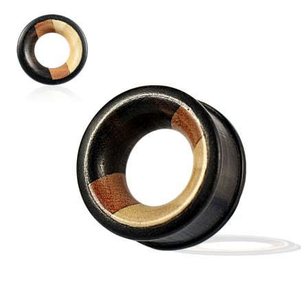 Organic Iron, Saba and Crocodile Ribbed Edge Tunnel Ear Gauges Plug