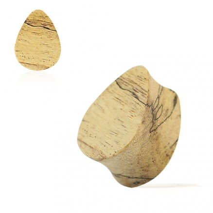 Double Flared Organic Tamarind Wood Flat Teardrop Saddle Ear Gauges Plug