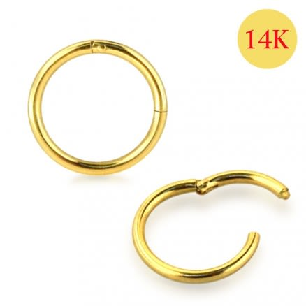 14K Solid Yellow Gold Classic Hinged Segment Ring