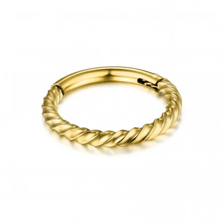 Twisted Rope Hinged Segment Clicker Ring