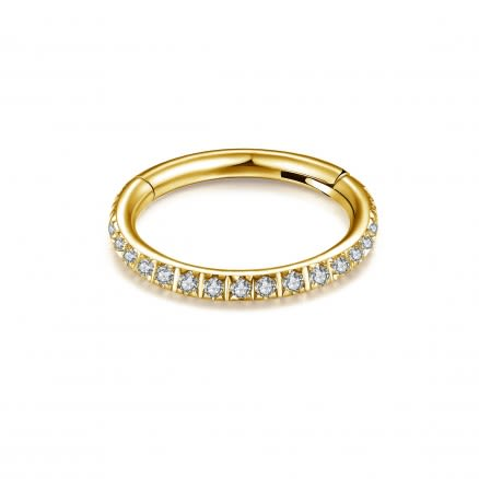 Micro Setting CZ Stones in Flat Hinged Segment Clicker Ring