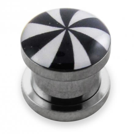 Swril Logo With SS Screw Fit Ear Tunnel