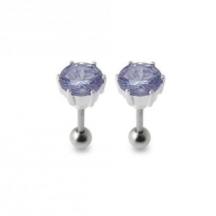 Silver Ear Jewelry With Zirconia Stone