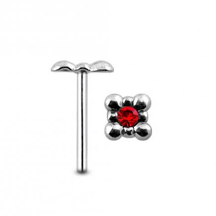 Jeweled Tub Straight Nose Pin