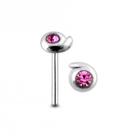 Jeweled Drop Straight Nose Pin