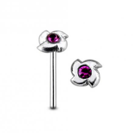 Jeweled Swestic Symbol Straight Nose Pin