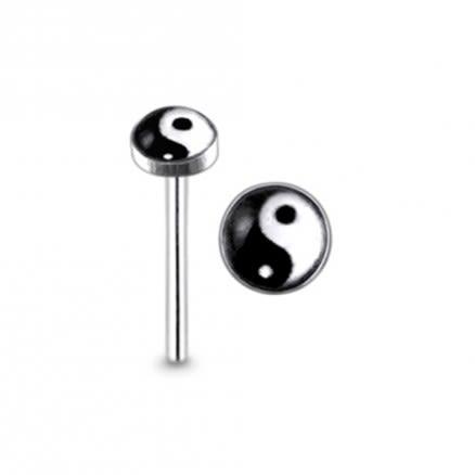 925 Silver Ying Yang Nose Stud