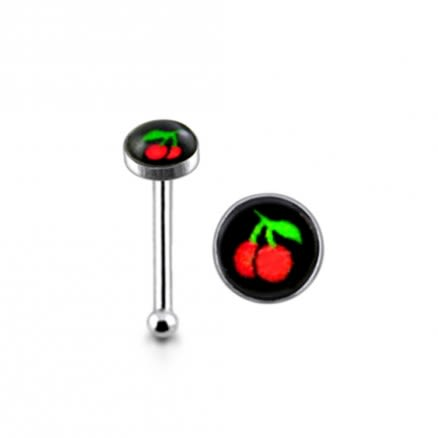 Silver Cherry Nose Stud