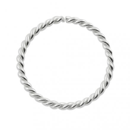 925 Sterling Silver Twisted Seamless Continuos Hoop Nose Ring